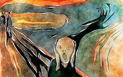 El grito de Munch. Lo que es, así está bien.